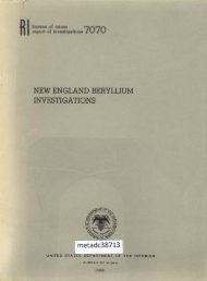 NEW ENGLAND BERYLLIUM INVESTIGATIONS - UNT Digital Library