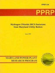 Hydrogen Chloride (HCl) Emissions from Maryland ... - Versar ESM