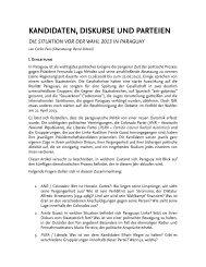 kandidaten, diskurse und parteien. die situation vor der wahl ... - FDCL