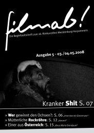 Ausgabe 5/2008 vom 01.05. - Magazin und Blog zum filmkunstfest MV