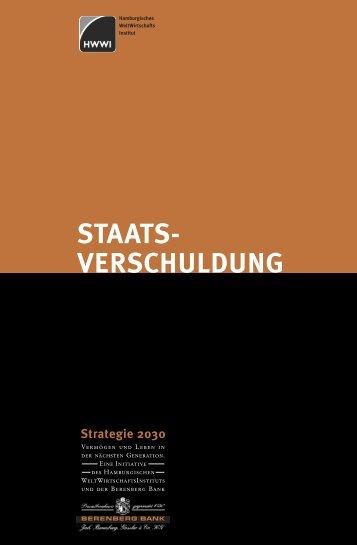 Strategie 2030 - Staatsverschuldung - HWWI