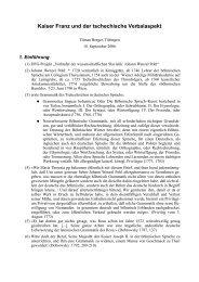 Kaiser Franz und der tschechische Verbalaspekt - Homepage.uni ...