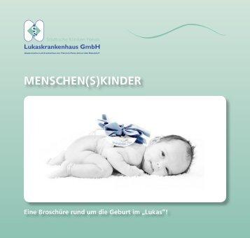 "Broschüre ""Menschen(s)kinder"" - Lukaskrankenhaus Neuss"
