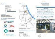 3. Kölner Kardio-Diabetes Symposium - St. Antonius Krankenhaus ...