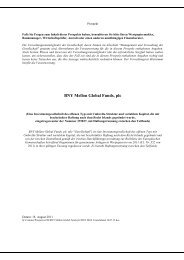 BNY Mellon Global Funds, plc - Stockselection GmbH