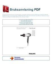 Instruktionsbok PHILIPS HP-4980 - BRUKSANVISNING PDF ...