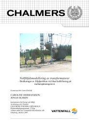 Nollföljdsmodellering av transformatorer - Chalmers tekniska högskola