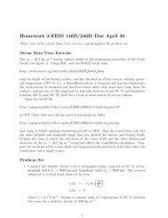 Homework 2-EESS 146B/246B–Due April 30