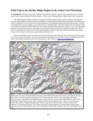 Field Trip to the Skyline Ridge Region in the Santa Cruz ... - USGS