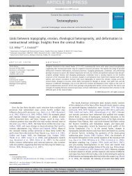 Links between topography, erosion, rheological heterogeneity, and ...