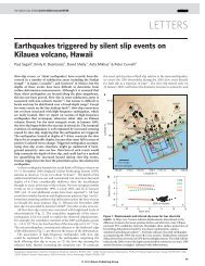 2. Earthquakes triggered by silent slip events on Kilauea volcano ...