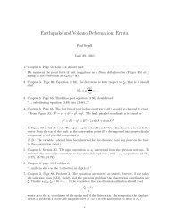 Earthquake and Volcano Deformation: Errata