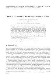 Space mapping and defect correction - Computational Methods in ...
