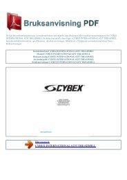 Instruktionsbok CYBEX INTERNATIONAL 625T TREADMILL
