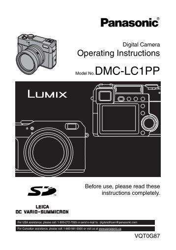 DMC-LC1 manual