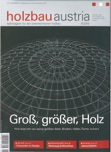 fachmagazin für den österreichischen holzbau