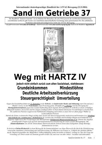 Weg mit HARTZ IV - Attac Berlin