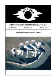 ASTRONOMISCHER ARBEITSKREIS KASSEL E.V. - Sternwarte ...