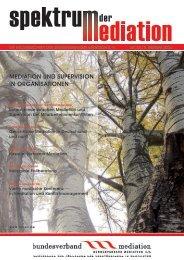 mediation und SuperviSion in organiSationen - Bundesverband ...
