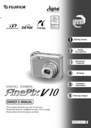 FinePix V10 Manual - Directory listing for