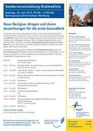 Neue Designer-Drogen und deren Auswirkungen für die orale ... - eazf