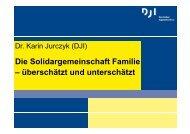 Die Solidargemeinschaft Familie – überschätzt und unterschätzt
