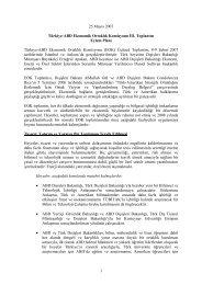 25 Mayıs 2007 Türkiye-ABD Ekonomik Ortaklık Komisyonu III ...