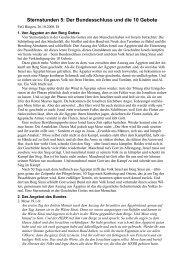 Sternstunden 5: Der Bundesschluss und die 10 Gebote - FeG Bingen