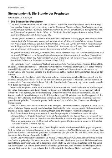 Sternstunden 8: Die Stunde der Propheten - FeG Bingen