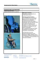 Referenzblatt Anatomische Sitzschalen - Orthopädietechnik Koletzki