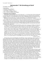 Sternstunden 7: Die Verheißung an David - FeG Bingen
