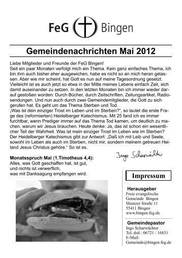 Gemeindenachrichten Mai 2012 - FeG Bingen