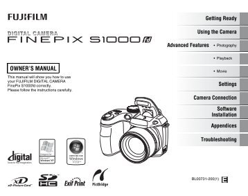 FinePix S1000fd Owner's Manual