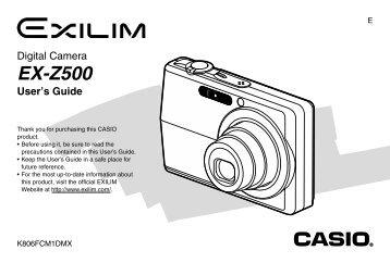 EX-Z500 - Visit - CASIO