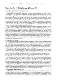 Sternstunden 1: Schöpfung und Sündenfall - FeG Bingen