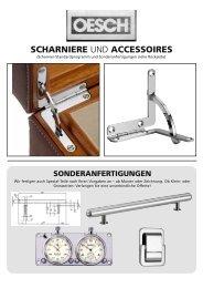 Scharniere und Accessoires für die ... - Oesch GmbH