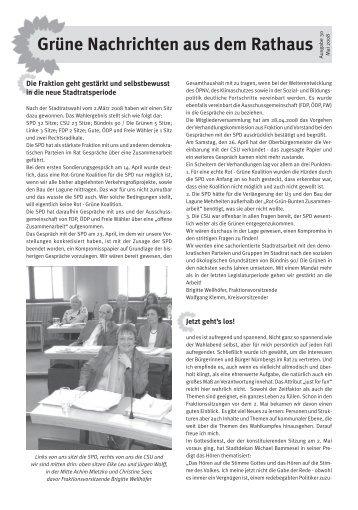Grüne Nachrichten aus dem Rathaus - Ausgabe 30 ... - Stadt Nürnberg