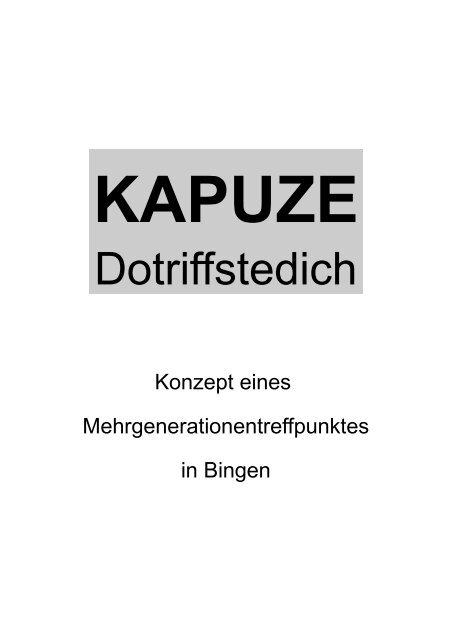 Konzept der Kapuze - FeG Bingen
