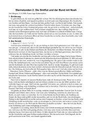 Sternstunden 2: Die Sintflut und der Bund mit Noah - FeG Bingen