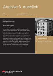 Analyse & Ausblick - Société Générale Private Banking Suisse