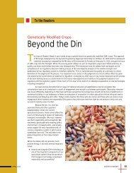 Beyond the Din - Biotechnews