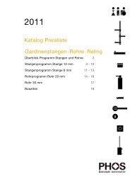 PHOS Edelstahl Stangen Rohre Reling - forhouse.de