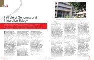 Institute of Genomics and Integrative Biology - Biotechnews