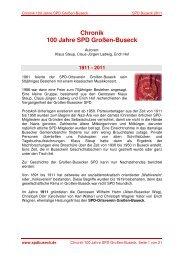 Chronik 100 Jahre SPD Großen-Buseck - Spdbuseck.de
