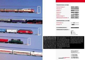 PRÄSENTATIONS-SYSTEME AUFBEWAHRUNGS ... - Trains service