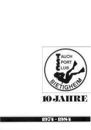 10 JAHRE) i - Tauch-Sport-Club Bietigheim eV