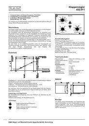 Klappenregler 432.011 - ANDO Technik Gmbh