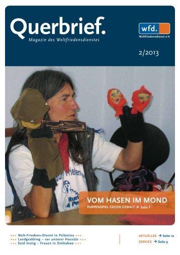 Querbrief Nr. 2/2013 - Weltfriedensdienst e.V.