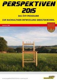 Ausgabe Perspektiven 2015 - ÖVP Geboltskirchen