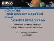 Cassini Tutorial - Isis